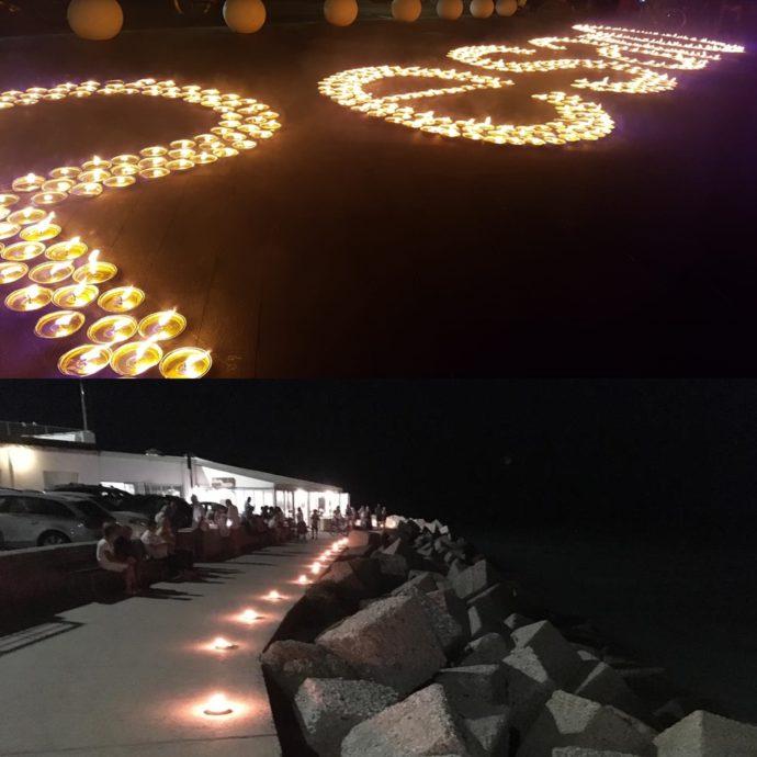 candele sotto le stelle